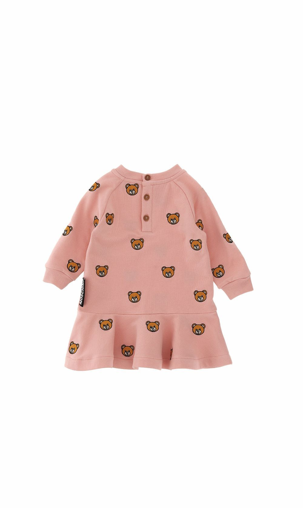MBV07M / 83245 ROSE TOY / MOSCHINO DRESS W G B W/ALLOVER BEAR EMBROIDERY