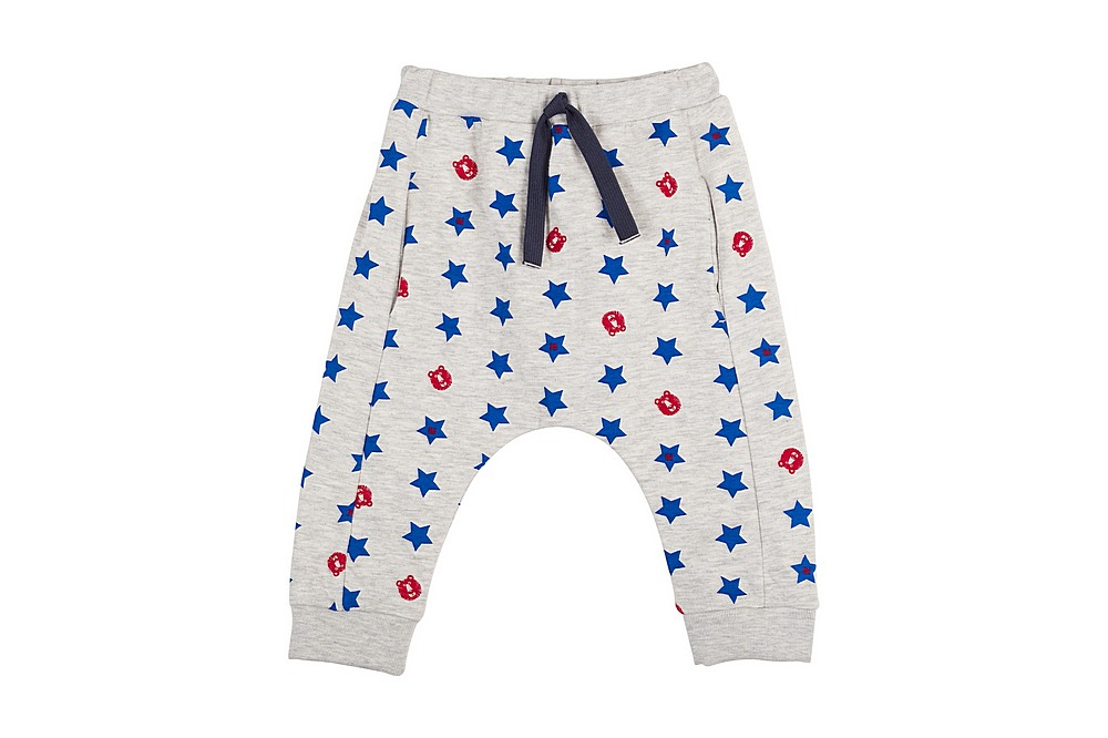 56329 LESSIVE / 01 GREY MULTI / Baby Boy Star Pants