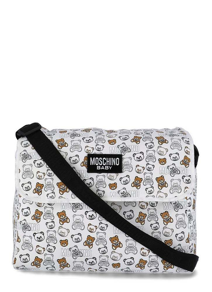 MNX03D/ / 83352 CLOUD TOY / MOSCHINO CHANGING BAG W/MAT AND ALLOVER BEAR PRINT