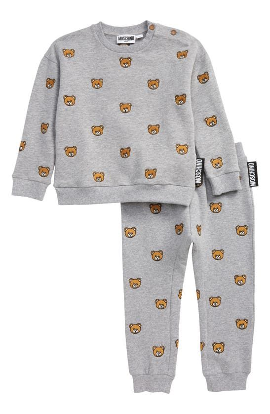 MUK038 / 84408 GREY / MOSCHINO TRACK SUIT W/ALLOVER EMROIDERY