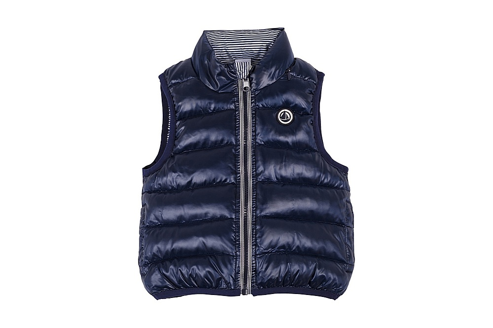56139 / 01 NAVY / Baby Quiled Vest