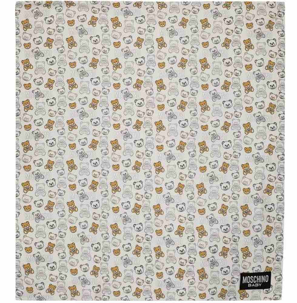 MUB007/ / 83552 CLOUD TOY / MOSCHINO BLANKET W/LOGO AND BEAR ALLOVER PRINT