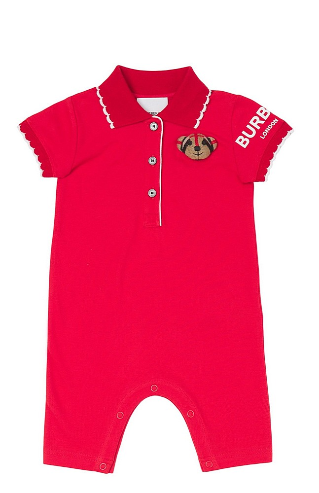 8043118 / BRIGHT RED / BURBERRY NOE BEAR OVERALL