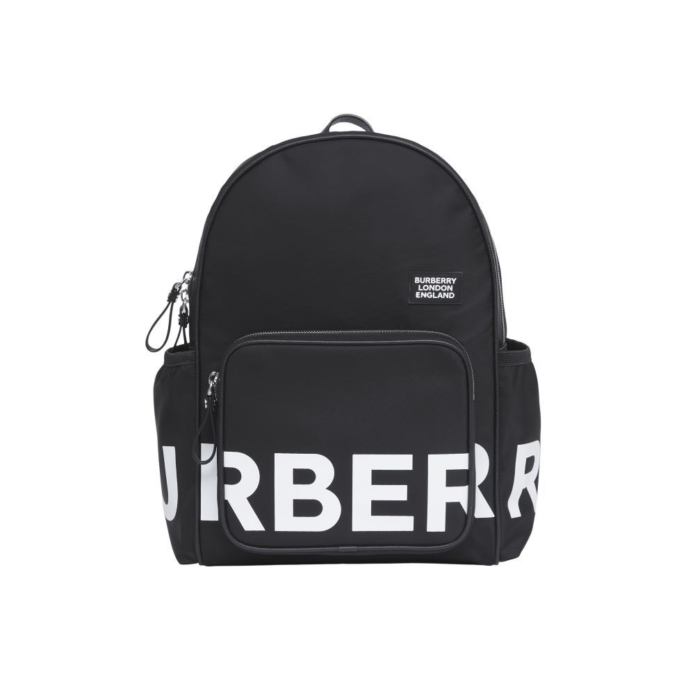 8041235 / BLACK/WHITE / BURBERRY MARCO BLE LOG CHANGING BAG/BACKPACK
