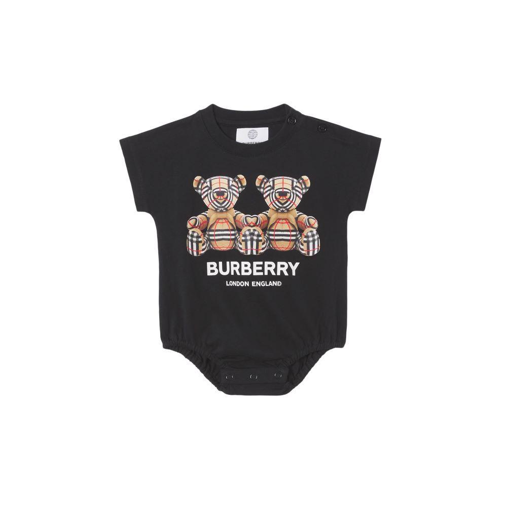 8041091 / WHITE/BLACK / BURBERRY BEAR BODYSUIT SET [2]