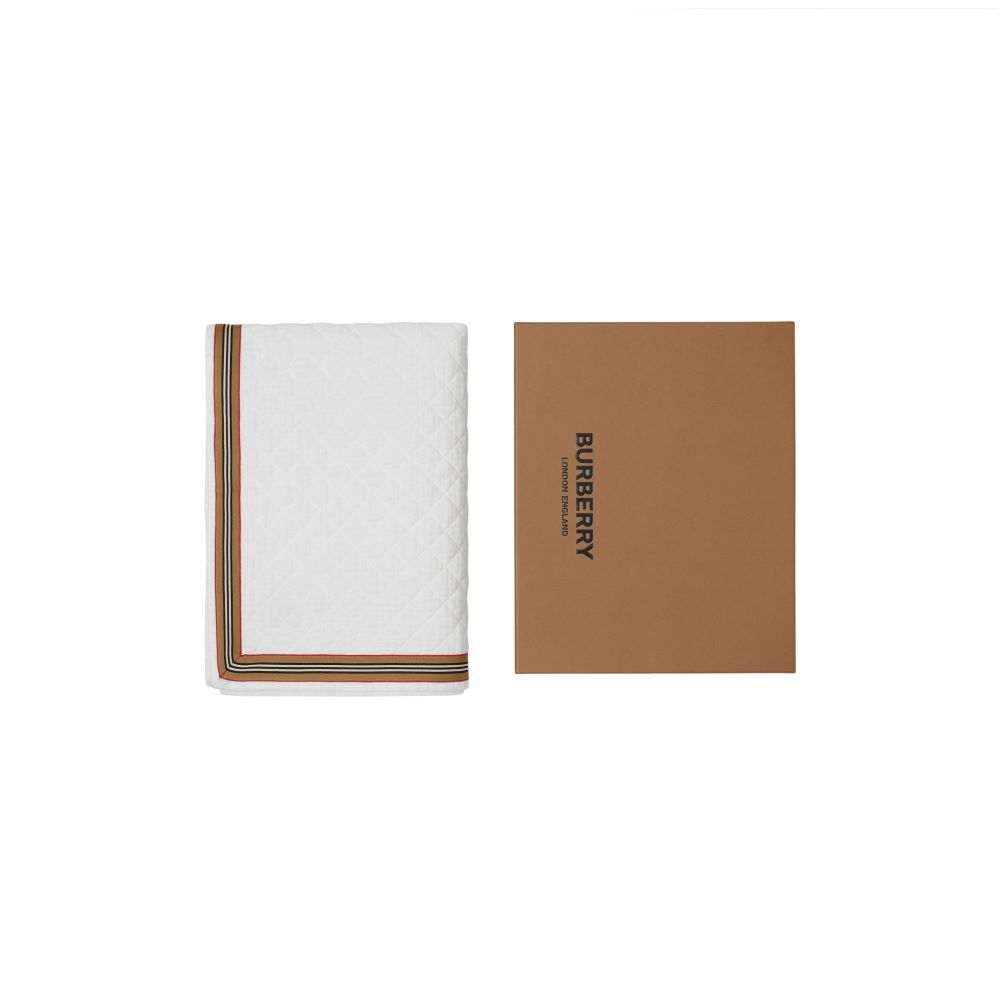 8041279 / WHITE / BURBERRY NB QUILTED BLANKET