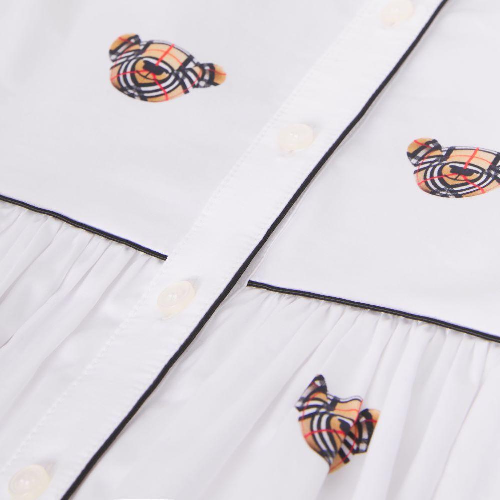 8042929 / WHITE/IP PATTER / BURBERRY DOROTHEA DRESS