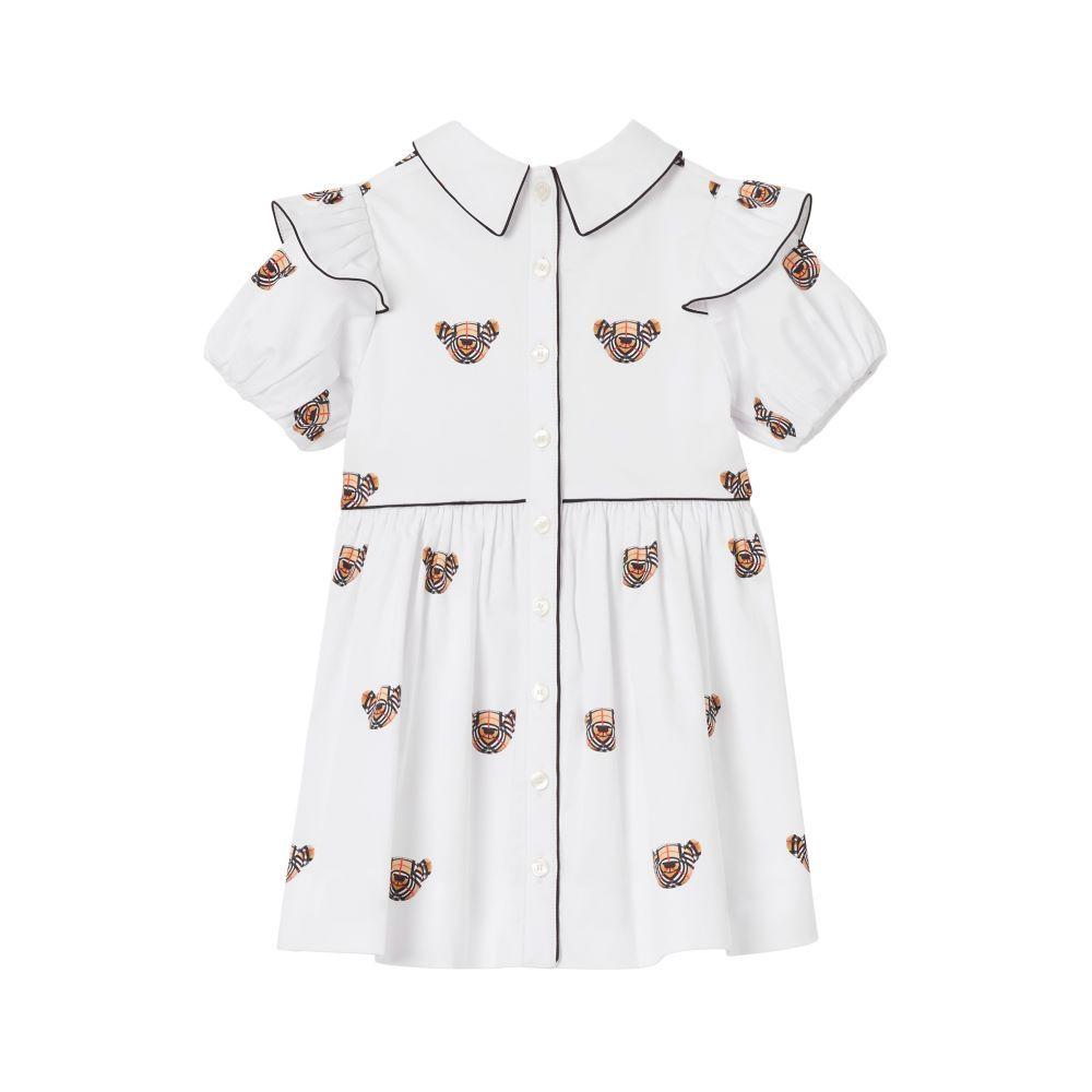 8042933 / WHITE/IP PATTER / BURBERRY MINI-DOROTHEA DRESS