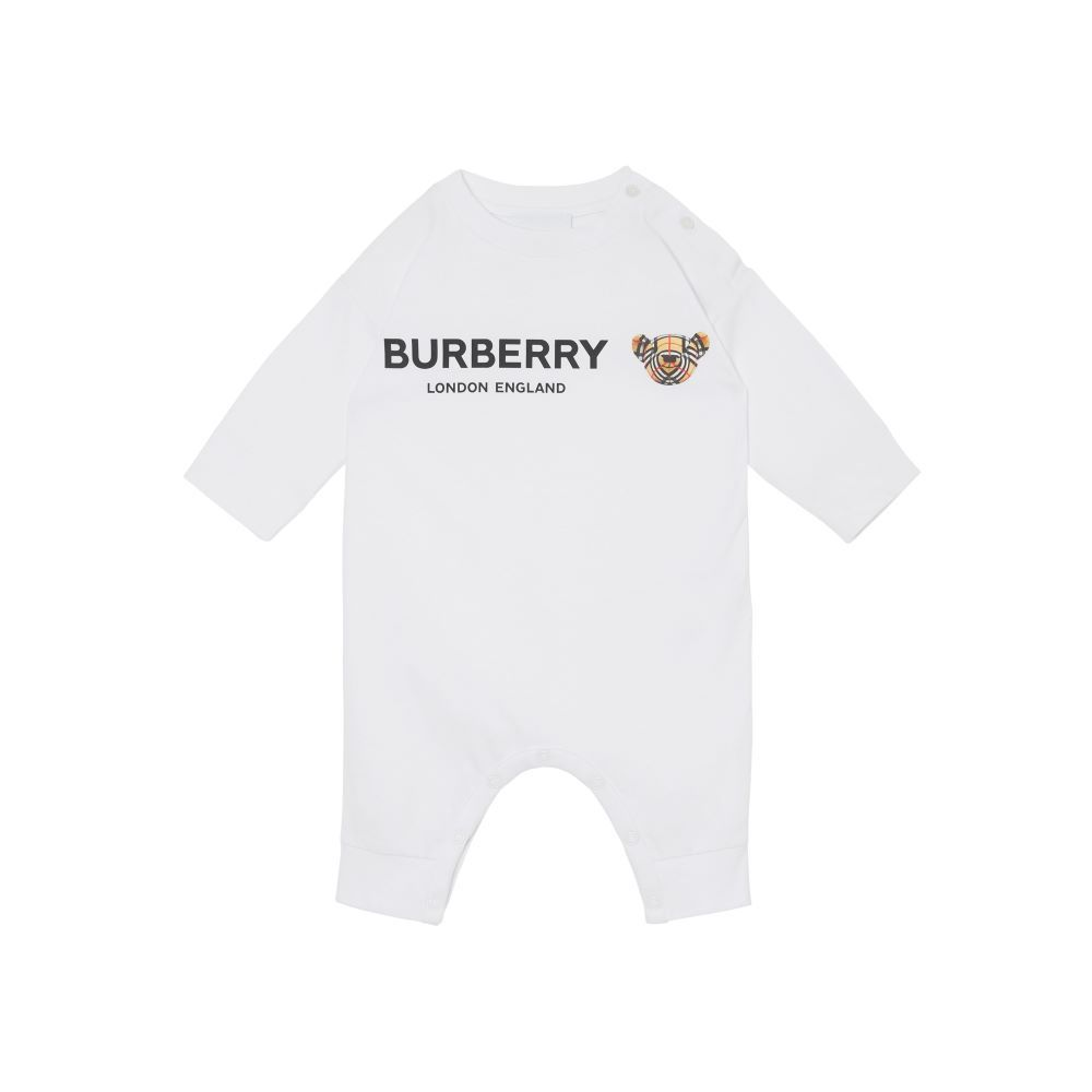 8041015 / WHITE / BURBERRY BEAR ONESIE