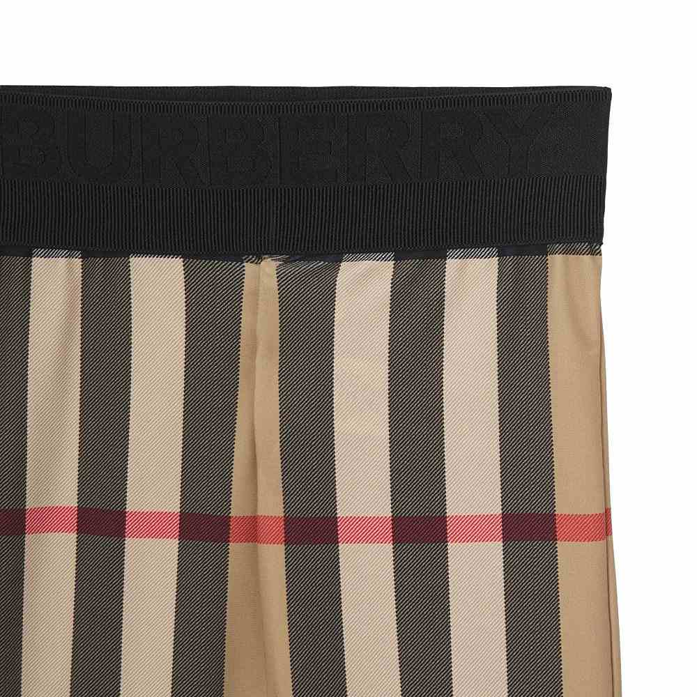 8041035 / ARCHIVE BEIGE C / BURBERRY GINA CHECK JERSEY TROUSERS