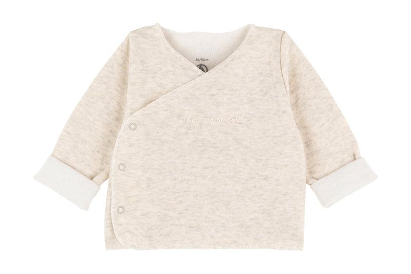 A01L6 / 01 BEIGE CHINE / BABY SIDE SNAP TOP