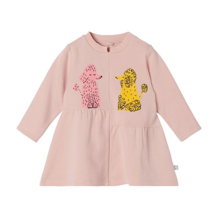 603494 SRJ60 / 5563 PINK / Baby Girl Ls Love Poodle Sweatshirt Dress