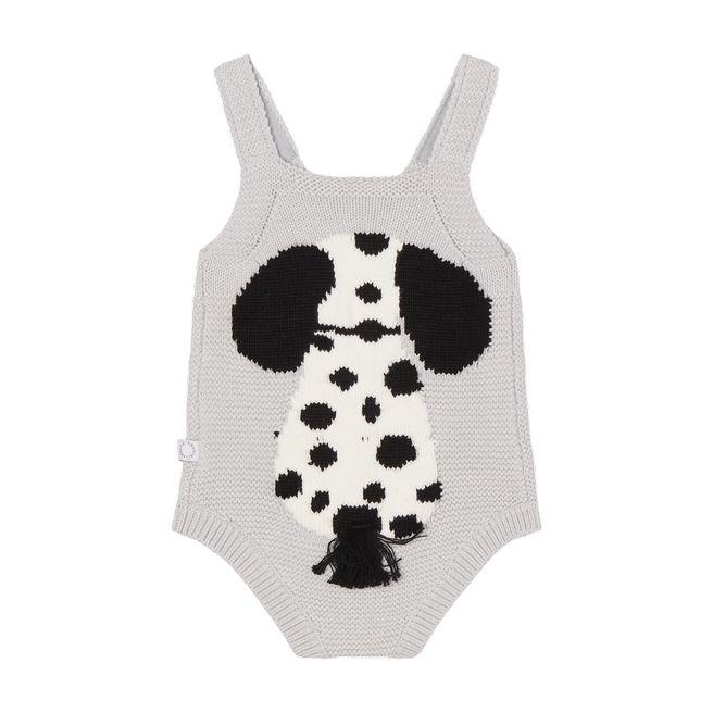 603469 SRM09 / 1400 GREY / Baby Unisex Dog Knit Bodysuit