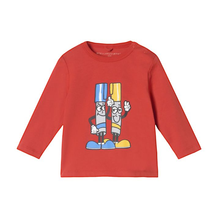 602281 SRJ87. / 6024 RED / Baby Boy Painting Tubes Ls Tee