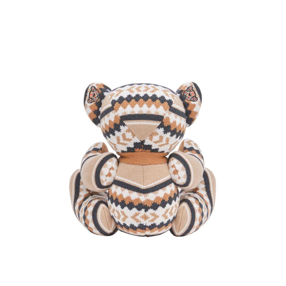 8045256 / MULTI / Burberry Fair Isle Wool Cashmere Thomas Bear