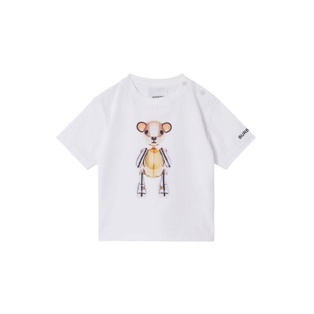 8045982 / WHITE / BURBERRY ROSE GOLD THOMAS BEAR T-SHIRT