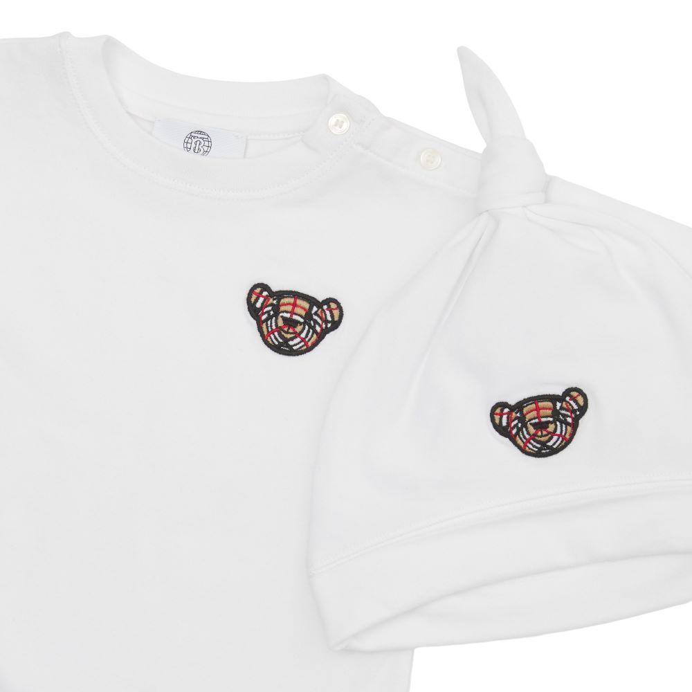 8045132 / WHITE / Burberry Thomas Bear Motif Gift Set