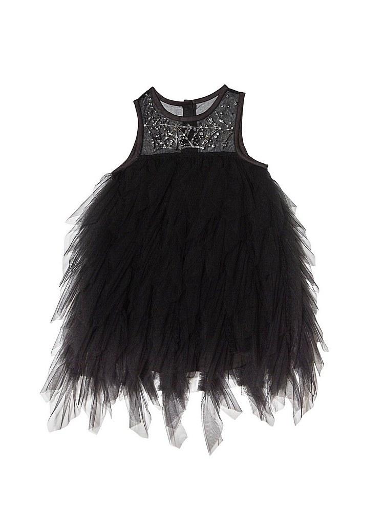 TDM7024 / BLACK / HALLOWEEN BEBE VENOM TULLE DRESS