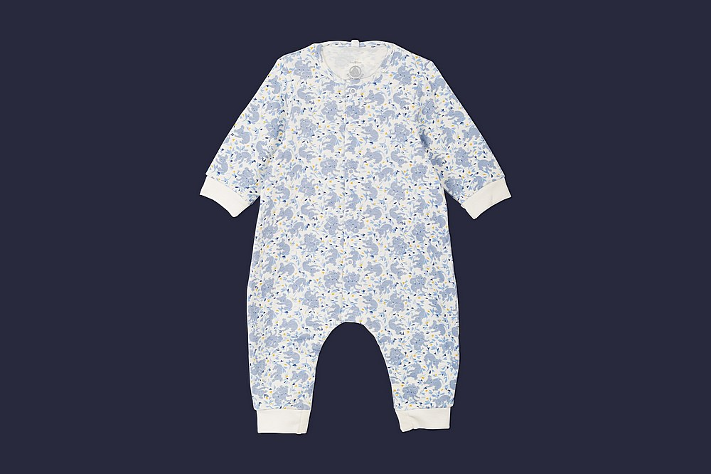 56450 LACTOSE / 01 BLUE MULTI / Baby Koala Print Ls Romper
