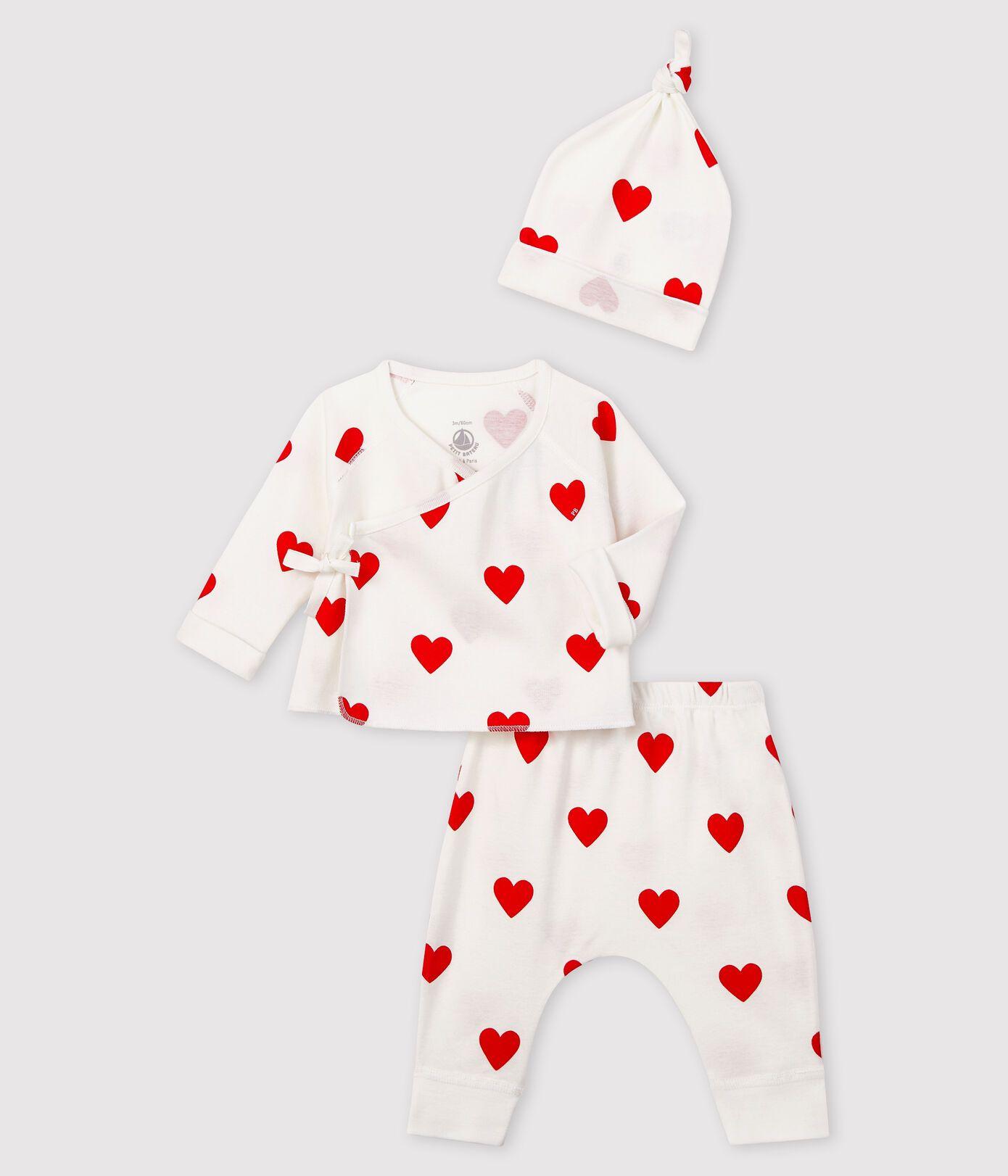 56361 LAMBEL 00 WHITE RED WHITE PETIT BATEAU GIFT SETS