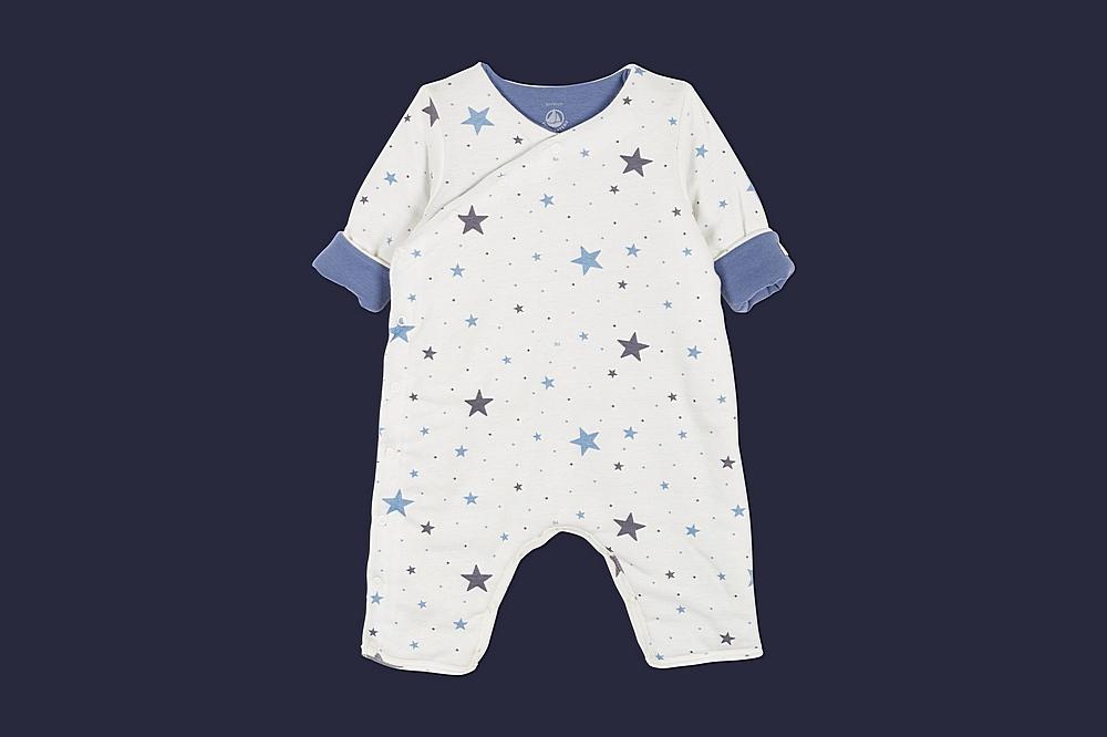 56957 LAMPARO / 02 MULTI STAR / Baby Printed Side Snap Romper