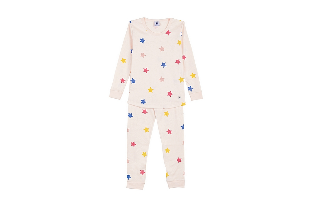 57569 LARME / 01 PINK MULTI / Girl Loungewear Multi Star Print Ls Top and Pants