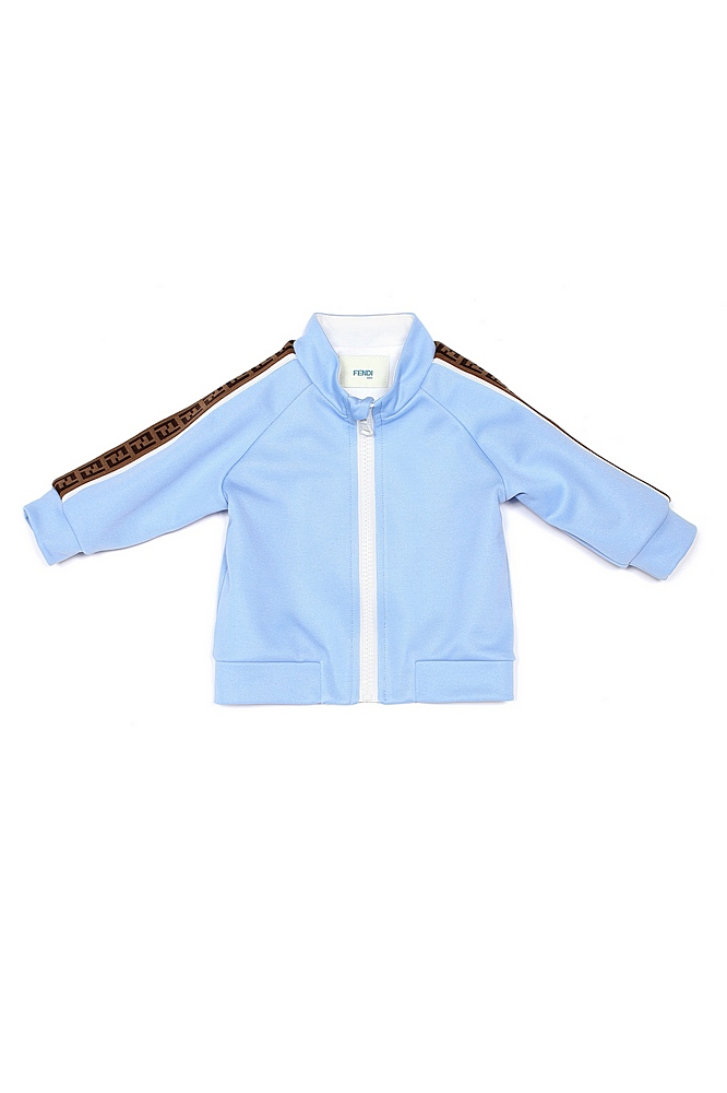 BUH023 A69D / F1BUC LTE BLUE / Track Jacket With Logo Down Sleeve