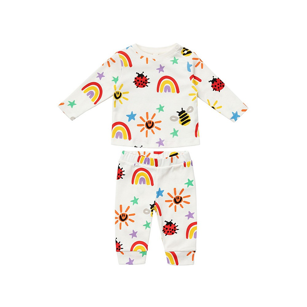 601507 SPJ11 / G933 MULTI / Baby Unisex Crayon Weather Top and Legging Set