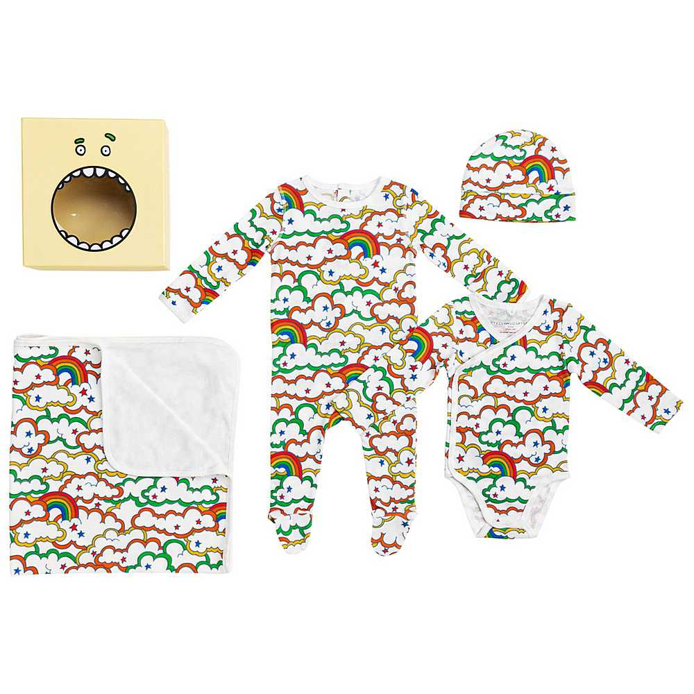 601013 SPJ69 / G925 MULTI / Baby Unisex Clouds and Rinbow 4pc Box Set