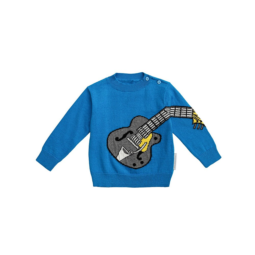 601004 SPM20 / 4011 BLUE / Baby Boy Guitar Sweater