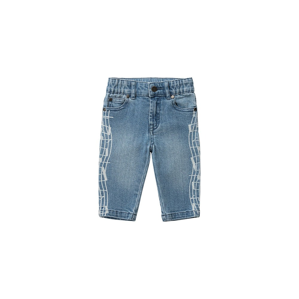601539 SPK75 / 4402 BLUE / Baby Boy Jeans With Music Note