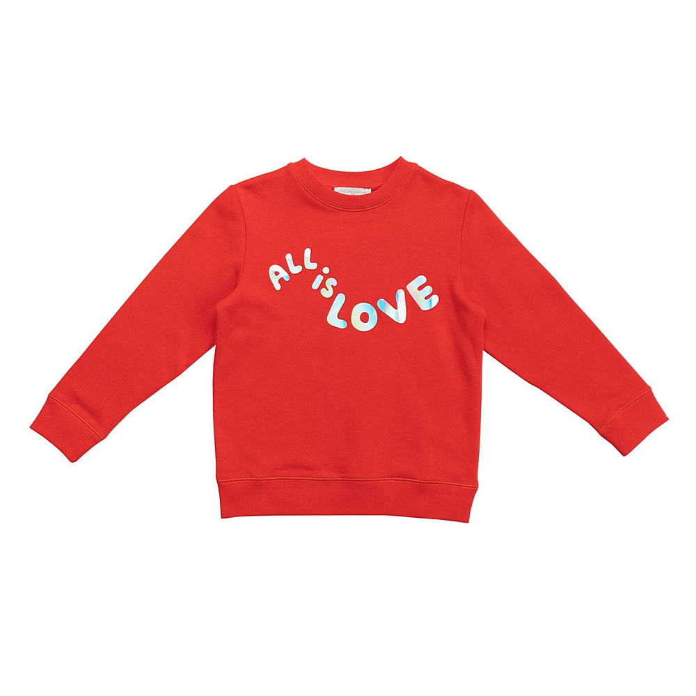 601084 SPJA1 / 6452 RED / Kid Girl All is Love Sweatskirt