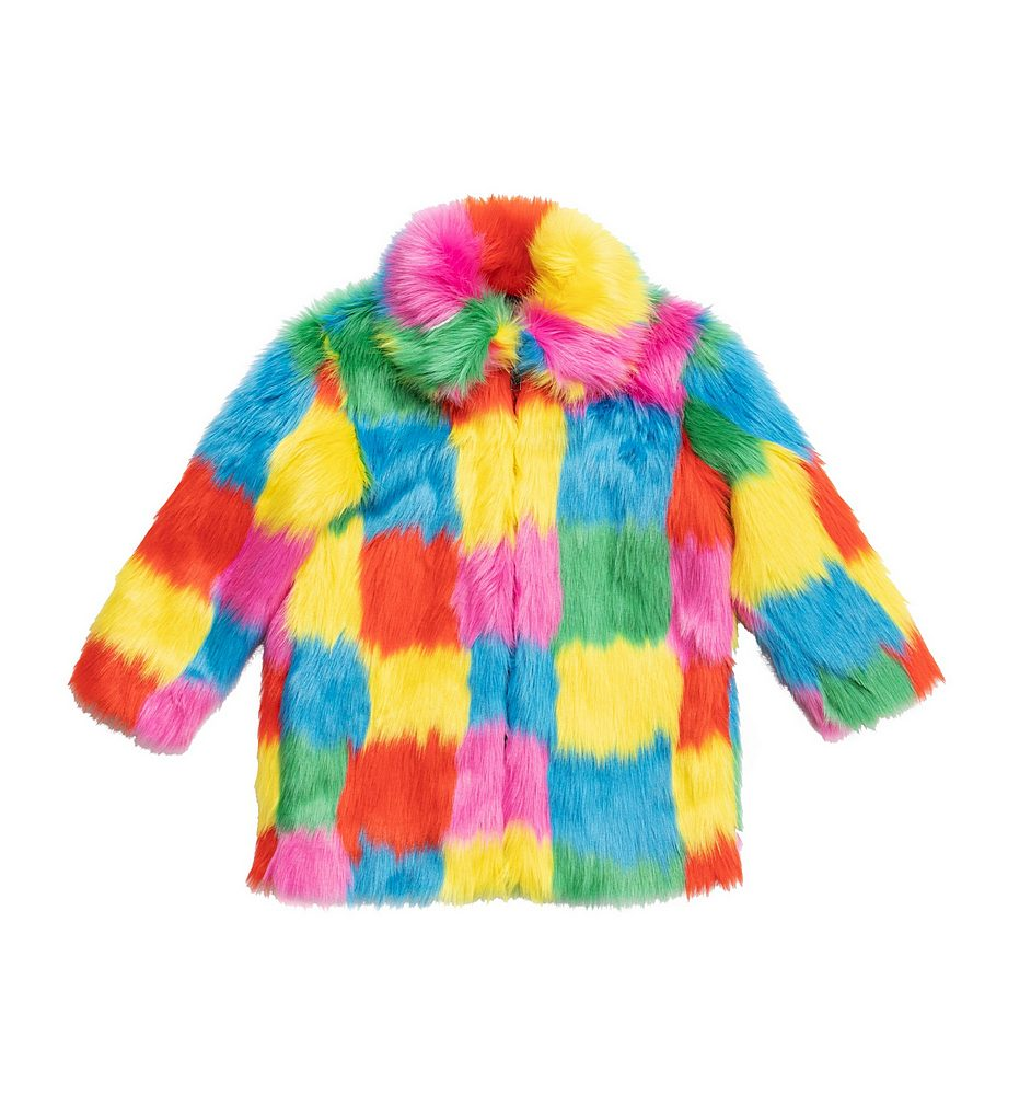 X601262 SPK26 / 8490 MULTI / Kid Girl Multicolor Faux Coat