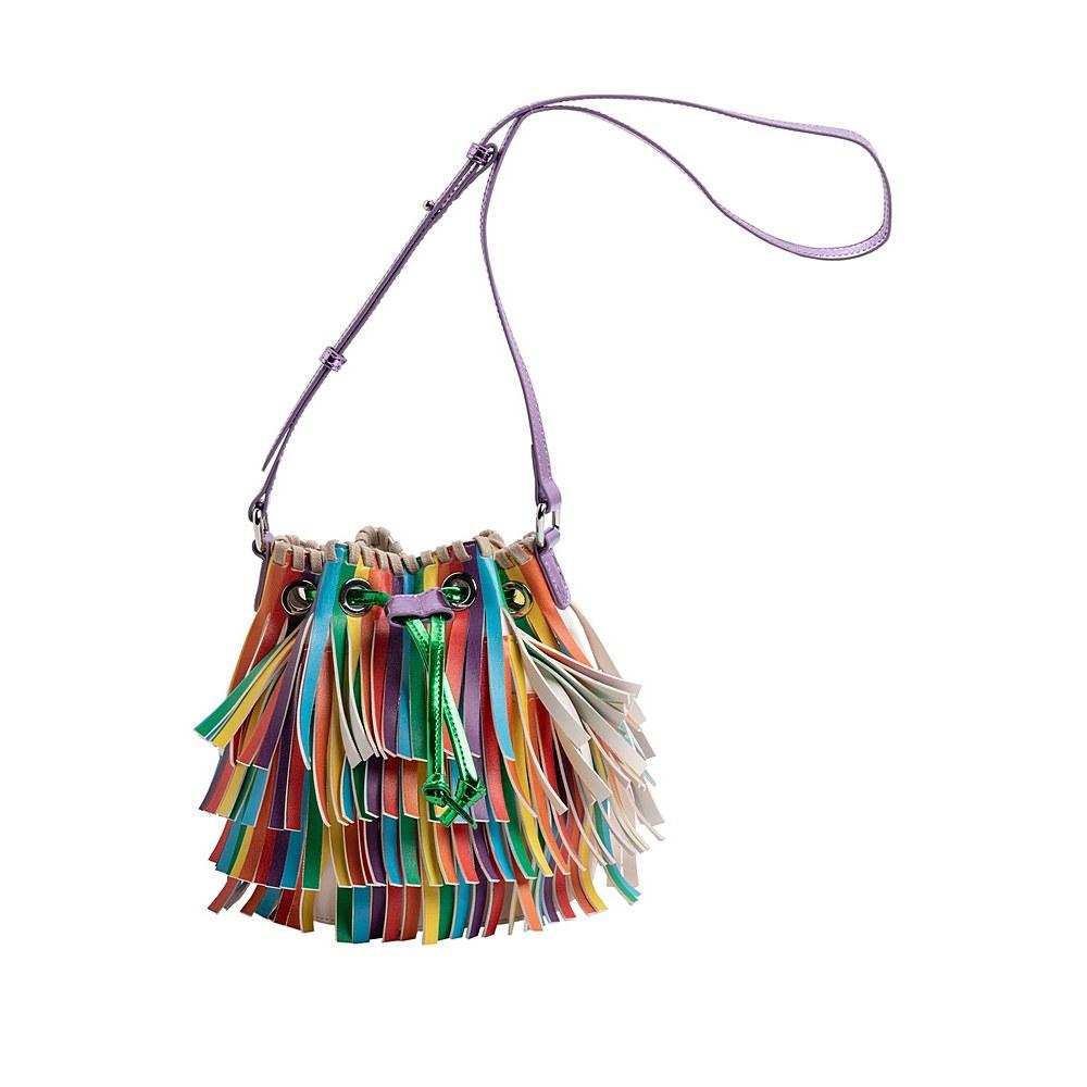 601365 SPD30 / 8490 MULTI / Bucket Bag Ith Multicolor Fringes
