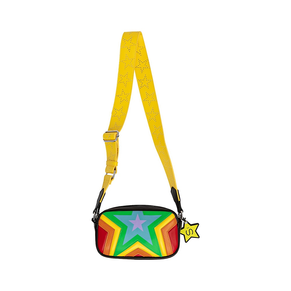 601367 SPD21 / 1000 MULTI / Shoulder Bag With Quilted Stars