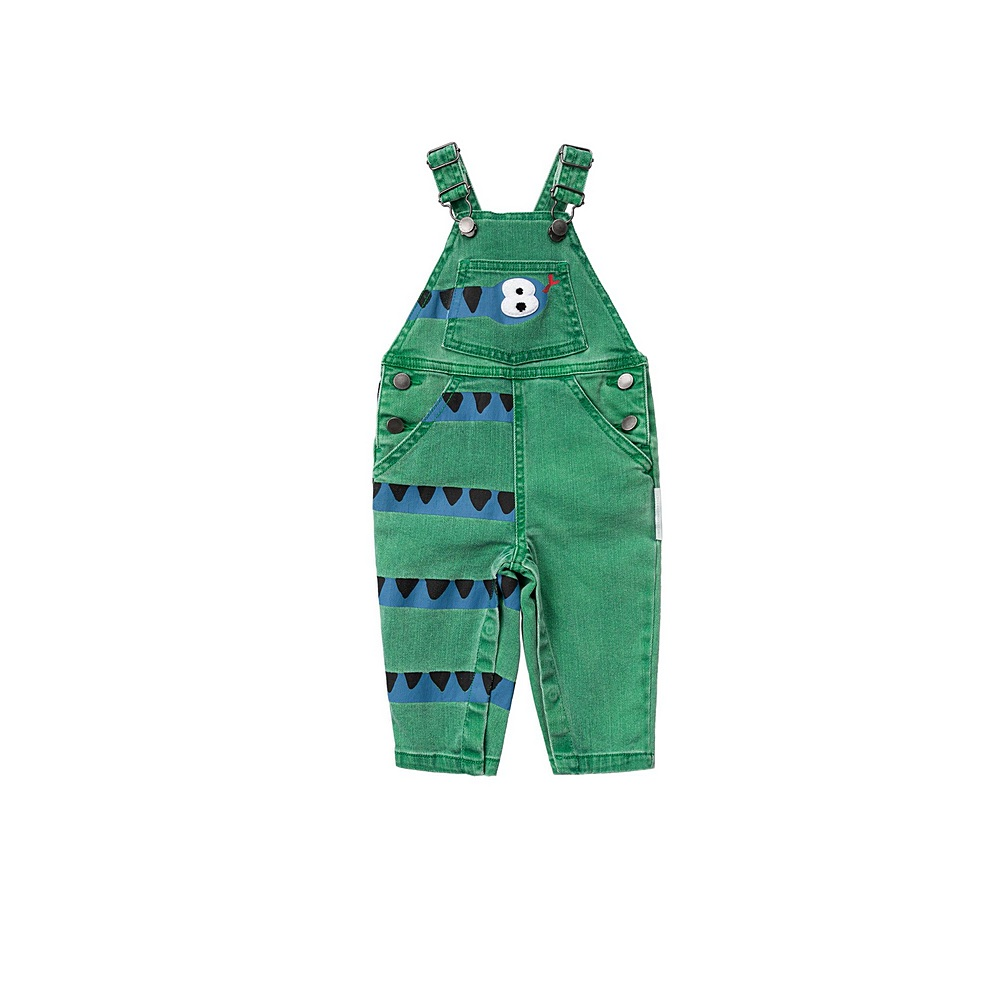 601472 SPK76 / 3704 GREEN / Baby Boy Snake Denim Dungaree