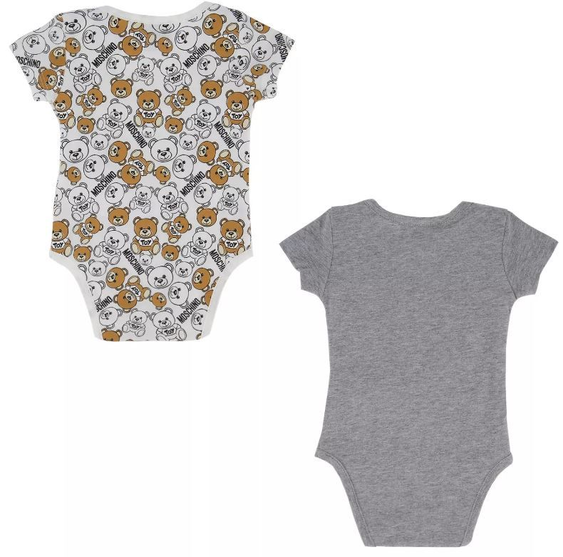 MQY017 LAB19 1 / 60901 GREY / Two Pack Ss Bodysuits With Bear in Box