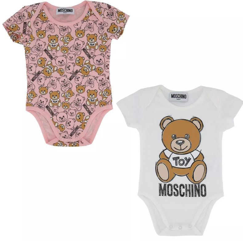 MQY017 LAB19 3 / 80003 ROSE / Two Pack Ss Bodysuits With Bear in Box