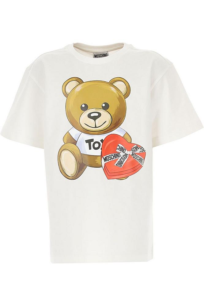 HEM02T LBA11 / 10063 CLOUD / Girls Ss Tee With Bear Heart Box