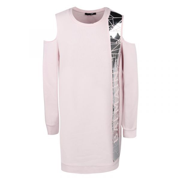 6N1030 NX300 / 515 PINK / Cold Shoulder Sweatshirt Dress