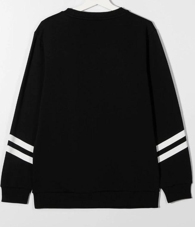 6N4540 NX300 / 930AG BLK/SILV / Sweatshirt W/Vertical Crackled Striped & Logo