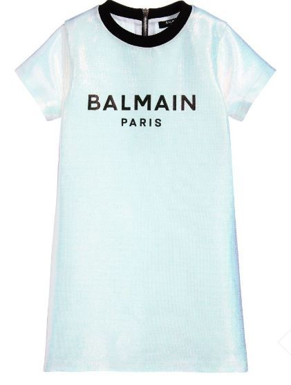 6N1041 NB150 005 PEARLESCENT DRESSES BALMAIN NATURAL