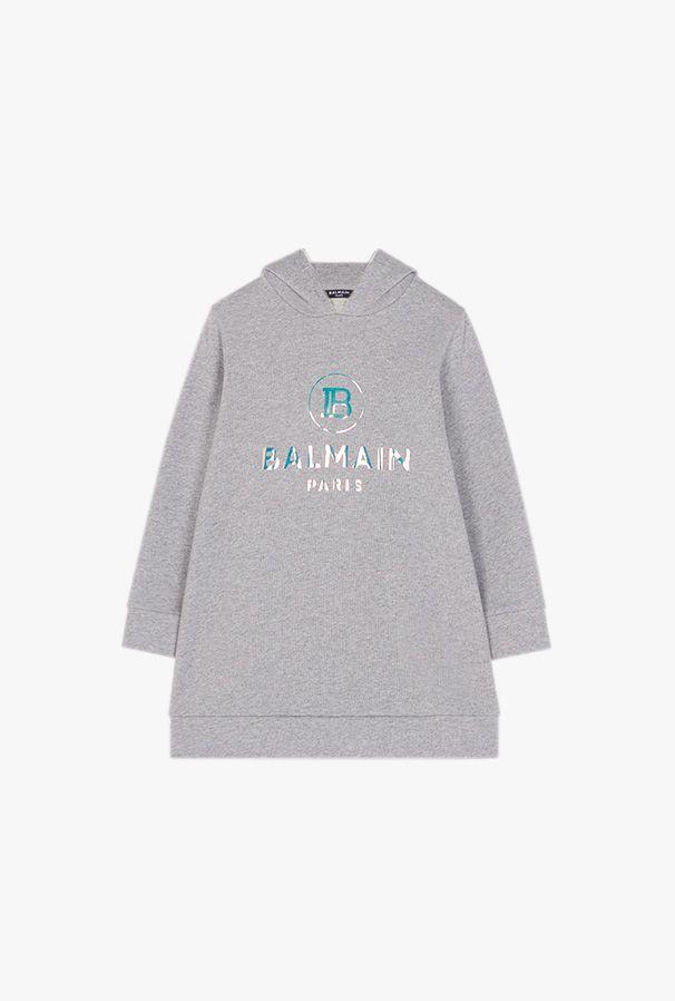 6N1120 NX300 / 915 GREY / Hoodie Sweatdress W/Logo