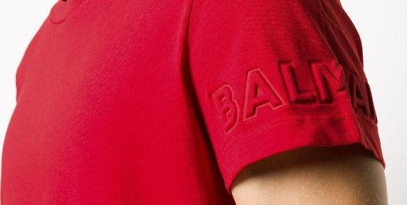 6N8621 NX290. / 414 RED / Ss Tee W/ Embossed Logo in Sleeves