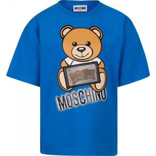 H7M029 LBA12 40515 SKYDIVER. TEE SHIRTS TOPS MOSCHINO BLUE