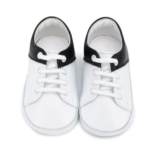6N0886 NX540 / 100NE WHT BLK / Baby Crib Shoes