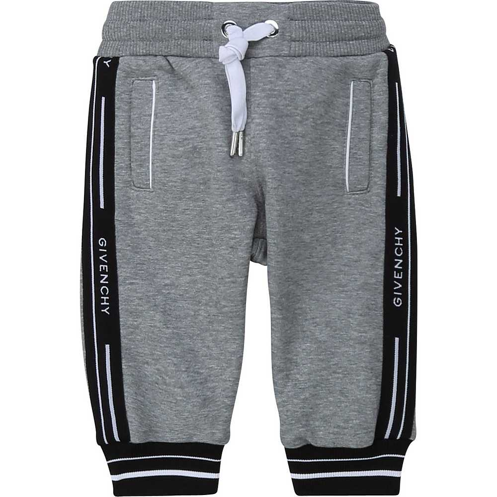 H04082 / A47 GREY / Boy Trousers Logo Band on Sides
