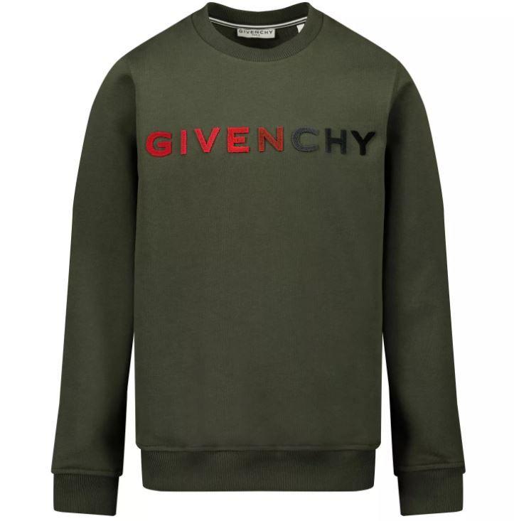 H25224 / 642 GREEN CAMO / Camo Green Gradient Logo Sweatshirt Embroidery