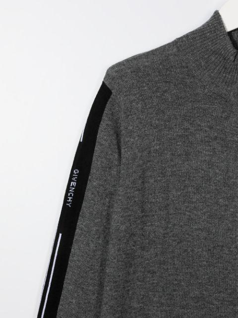 H25225 / A99 GREY / Boy Zip Up Cardigan Logo Band on Sides