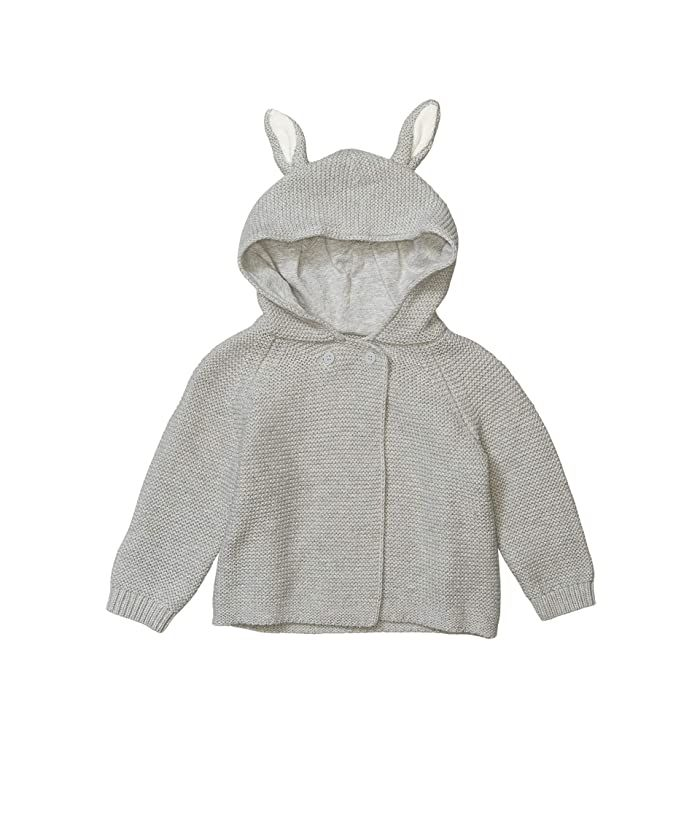 588367 / 1461 GREY / Baby Unisex Knit Hooded Cardigan With Ears